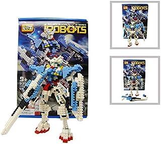 Loz Diamond Building Block Series white Gundam Style Robot Warrior