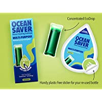 OceanSaver Multi-Purpose All Surface Cleaner, Apple Eco Drop Refill, Eco Friendly All Purpose Cleaning Product for Cleaning Multiple Surfaces, Apple Breeze Scented, Just Add Water – 5 Pack