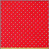 Jersey rot-weiß Punkte * Dots * Kinderstoff * Trikot *