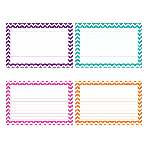 Top Notch Teacher Products Border Lined Index Cards (75 Count), 4