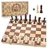 "Best Chess Set For Kids - Amerous 15"" x 15"" Magnetic Wooden Chess Set Review"
