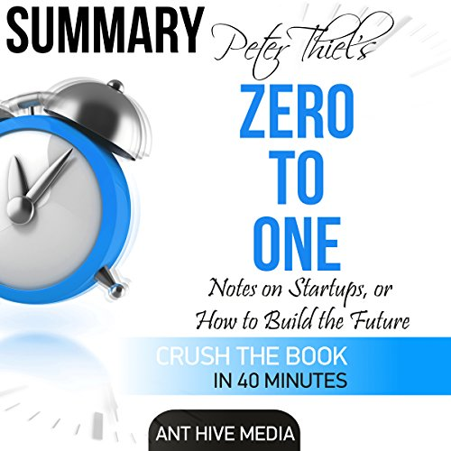 Peter Theil's Zero to One audiobook cover art