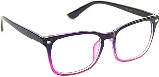 Cyxus Blue Light Filter Computer Glasses for Blocking UV Headache [Anti Eye Eyestrain] Transparent Lens Gaming Glasses, Unisex (Men/Women) (8082T47, Gradient Pink)