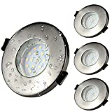 Focos Empotrables GU10 LED de Baño IP44 Kambo 6W Equivalente a Incandescente 50W, Ø55-80mm...