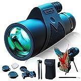 Simitten 12X42 High Power Monocular Telescope, Monocular with Smart Phone Adapter,Binocular Scope for Adult,for Bird Watching,Wildlife,Concert,Sporting Game