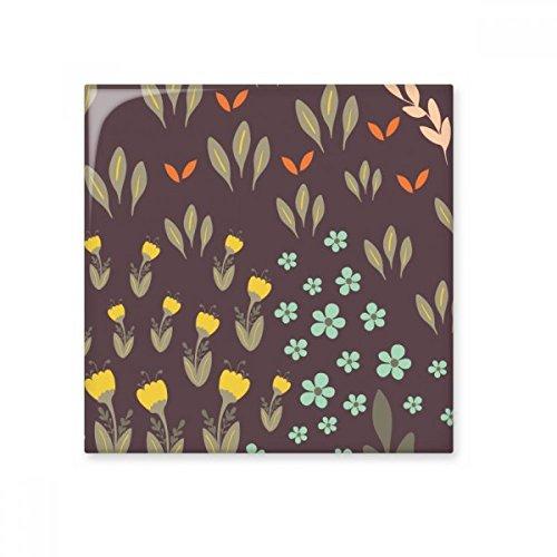 DIYthinker Planta de la Flor de la Hoja marrón Pintura Brillante baldosa cerámica de baño Cocina Muro de Piedra decoración Artesanal de Regalo