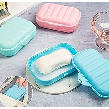 2 Pcs Soap Dish Waterproof Durable Portable Soap Holder Soap Box for Travel