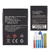 E-yiiviil Li3820T43P3h785439 - Batería de repuesto compatible con ZTE Blade L3 2000 mAh con herramientas