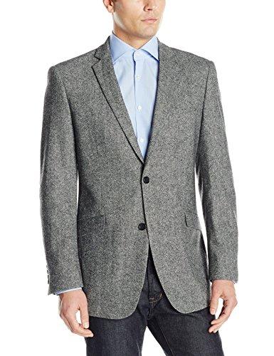 U.S. Polo Assn. Men's Wool Blend Sport Coat, Gray Donegal, 42 Regular