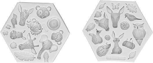 Gris Deux Pièces Motif Animal Moule À Gâteau Fudge Bonbons Moule En Silicone Cupcake Décoration Sucre Artisanat Décoratio...