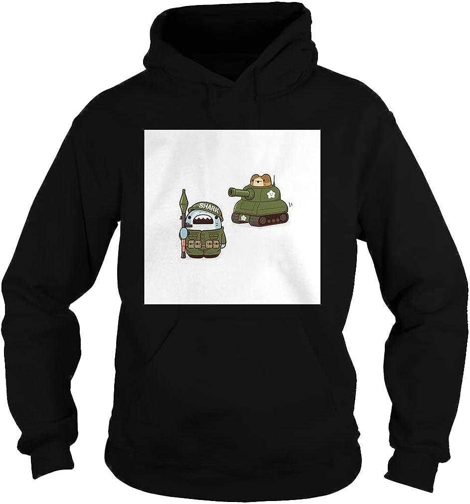 Soldier Shark Tank [New]-[Dev] G185 Premium - Pullover Hoodie _ Red n Black