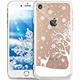 iPhone 8 Plus Case,iPhone 7 Plus Case,ikasus Ultra Thin Soft TPU Case,Christmas Snowflake Series,Soft Silicone Rubber Bumper Crystal Clear Soft Floral Silicone Cover for iPhone 8 Plus / 7 Plus,#3
