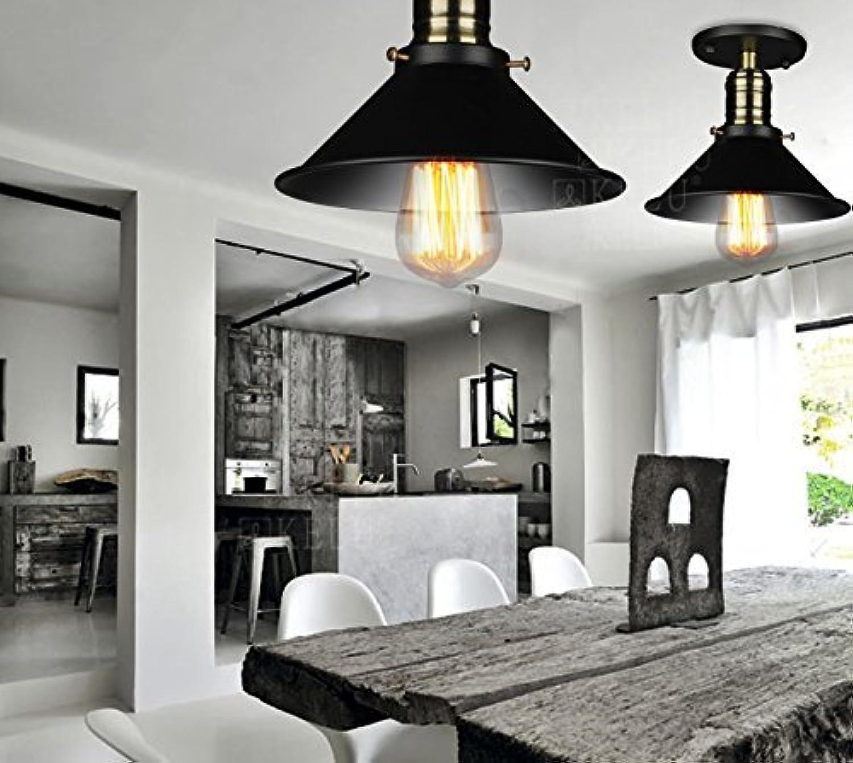 GBT Continental Eisen Retro Deckenleuchte Nordic Den Eingangsbereich Balkon Gang Beleuchtung,Durchmesser 21cm (gewhnliche Glühbirnen)