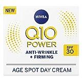 NIVEA Q10 Power - Crema antiarrugas + reafirmante antimanchas de edad SPF30 (50 ml), crema facial antienvejecimiento con creatina y Q10, reduce la apariencia de arrugas