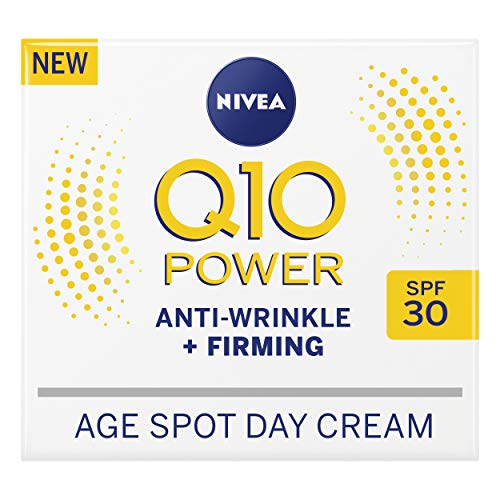 NIVEA Q10 Power Anti-Wrinkle + Firming Age Spot Day Cream SPF30 (50 ml), Anti-Ageing Face Cream with...