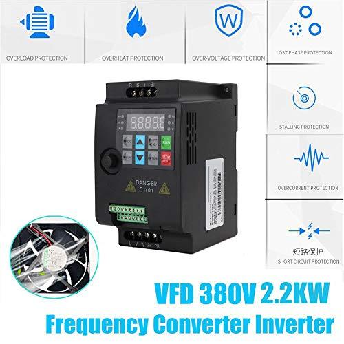 Frequenzumrichter 380V 2,2KW,Jectse 3-phasig 380V bis 3-phasig 380V Mini VFD Inverter Vektorregelung VFD Drehzahlregler