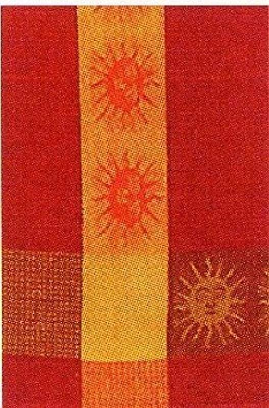 Traders And Company 100 Cotton Orange Red 20 X28 Dish Towel Set Of 3 Sunface 3 Color