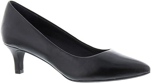 Rockport Chaussures à à Pompe Kaviolet Luxe pour Femme, 38.5 EU, noir Leathe  articles de nouveauté