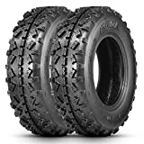 OBOR Advent MX ATV Tires 20x6-10, 4 Ply GNCC Race Tire, ATV Sport Tires, Tubeless(2 Pack)
