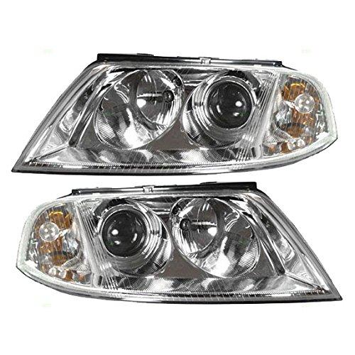 Halogen Headlights Headlamps Driver and Passenger Replacement for Volkswagen Passat 3B0 941 015 AQ 3B0 941 016 AQ