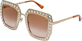 d4988bb98874a Sunglasses Gucci GG 0115 S- 002 GOLD BROWN
