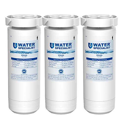 Waterspecialist XWF NSF Certified Refrigerator Water Filter, Replacement for GE XWF, GE Refrigerator Models Starting with GBE21, GDE21, GDE25, GFE24, GFE26, GNE21, Pack of 3 (Packaging may vary)