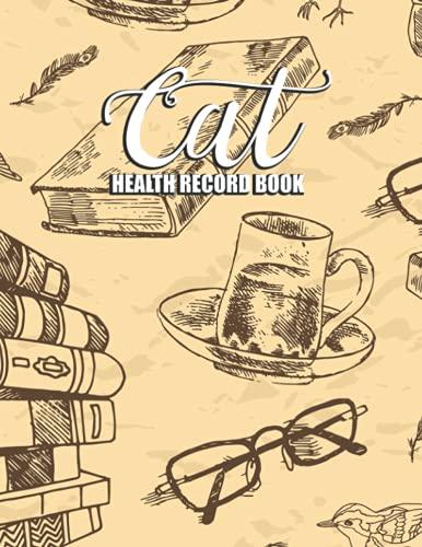 Cat Health Record Book: Shots Record Card Kitten Vaccine Book