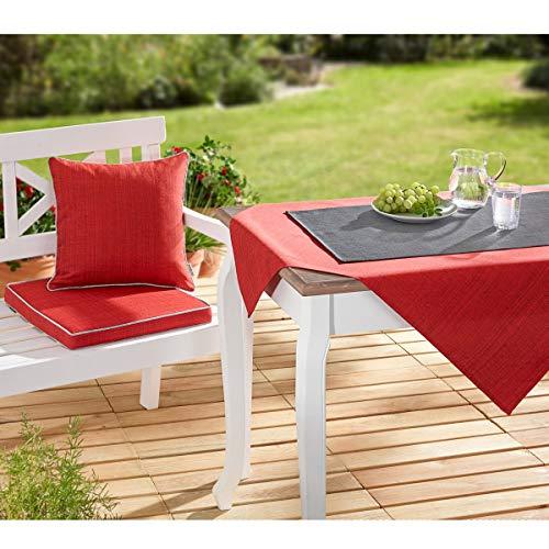 Raebel OHG Outdoor tafelkleed, weerbestendig, voor binnen en binnen, keuze uit verschillende maten en kleuren 40 x 140 cm grijs