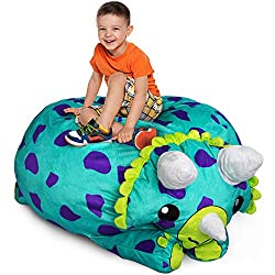 4. Stuffums Triceratops Bean Bag Chair Cover