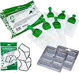 Sacchetti in Microfibra per Vorwerk Folletto modelli vk140 - vk150 + Blister di Profumatori + Filtro Griglia Garantiti S&G group (12 Sacchetti + 12 Profumatori + 2 Filtro Griglia)