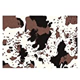VBUEFM Alfombra Estampada Alfombras Dormitorio Modernas Lavables Lavable Antideslizante Alfombras Pelo Interio, 160 x 230 cm, Estampado De Leopardo Negro Rojo Blanco Alfombra
