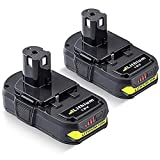 2Pack 3.0Ah P108 P102 18V Battery Replacement...