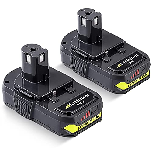 2Pack 3.0Ah P102 18V Lithium Replacement Battery for Ryobi 18Volt P103 P104 P105 P107 P108 P109 P190 for 18V Batteries