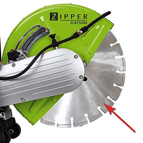 Zipper ZI-BTS350DSS Diamant-Trennscheibe für Beton, 350 mm/25,4 mm, 4850 U/min
