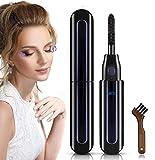 Heated Eyelash Curler, Electric Eyelash Curler USB Rechargeable Eyelash Brush with LED Display