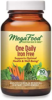 MegaFood, One Daily Iron Free, Supports Optimal Health and Wellbeing, Multivitamin and Mineral Supplement, ...