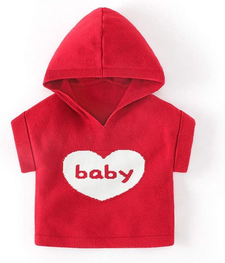 LittleSpring Baby Vest Girl Boy Hooded Knitted Outerwear Vest for Spring