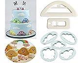 Die einfachste (Set von 7) Auto Cookie Ever Cutter Set, weiß Wolken Cookie Cutter Form, Cup Cake Dekorieren gumpaste Fondant Form  Cute Auto Cutter