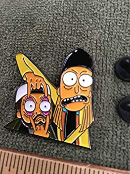 Jay and Silent Bob Rick and Morty mashup HAT PIN two post new unopened in bag