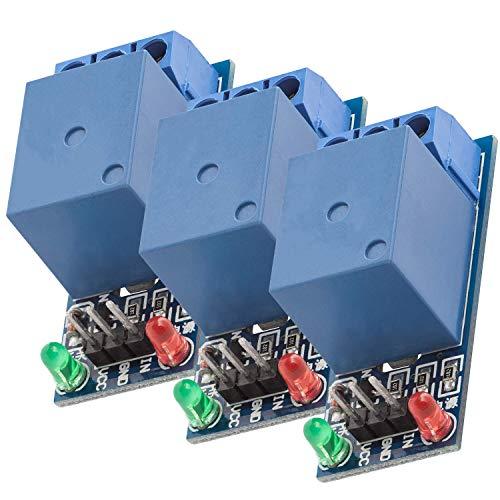 AZDelivery 3 pcs 1 Canal KF-301 Modulo Rele 5V Low-Level-Trigger compatible con Arduino con E-Book incluido!