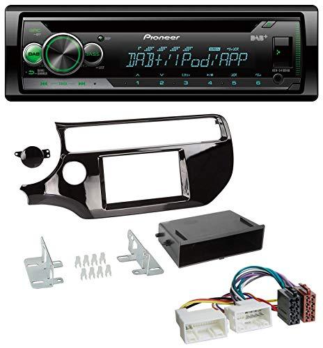 caraudio24 Pioneer DEH-S410DAB USB MP3 DAB AUX CD Autoradio für Kia Rio UB ab 2015 Piano-schwarz