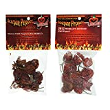 Scorpion Pepper Bundle: Dried Trinidad Moruga Pepper Pods and Dried Butch-T Chili Pepper Pods
