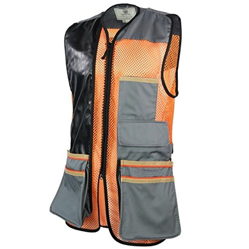 Beretta Men's Two Tone Shooting Vest – Breathable Bird Vest with Shooting Patch – Athletic...