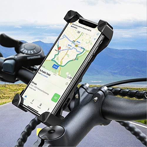 yywl Soporte de teléfono móvil para bicicleta, rotación 360°, ajustable, soporte universal para bicicleta, manillar de teléfono móvil