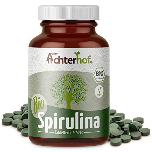 Spirulina Tabletten Bio | 400 Presslinge | mit je 500mg Spirulina Algen Pulver | hochdosiert | vegan |