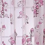 1m * 2m cortinas rosa oso patrón compensar estor Cristal Hilo Para Niños & Niñas Dormitorio