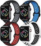 Younsea Compatible con Apple Watch Band 44mm 42mm 40mm 38mm, súper cómodo y Duradero, Banda de reemplazo de Silicona iWatch Series 5/4/3/2/1 S/M M/L