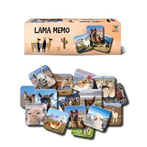 Starnberger Spiele - Lama Memo-Spiel Lama und Alpaka-Fans - Tolles Spiel für die ganze Familie