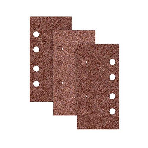 Preisvergleich Produktbild RETOL Klett-Schleifblätter,  186 x 93 mm,  8-Loch,  Korn 100,  f. Schwingschleifer,  Normalkorund (50 Stk.)