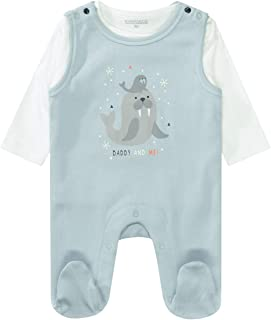 Organic Cotton Strampler Daddy & Me - Ice Mint